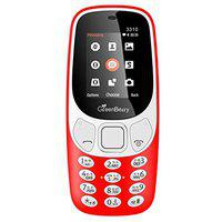 GreenBerry 3310 1.8 Inch Display Screen with Inbuilt Talking Software Dual Sim Red Phone