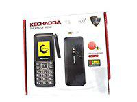 WINSOME Kechaoda Model K2 Mobile with Mosquito Repellant Light 1.8 inch Colour Display Feature Phone with Camera (Dual Sim, in Black Colour