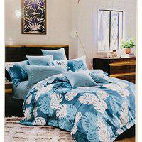Double Bed Cotton Bedsheet with 2 Pillow Covers (Book Fold Packing)