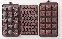 MASOOM NX Bakeware Silicon Set of 3 Chocolate Mould / 3 Assorted Mould Combo (44/45/48)