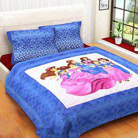 King Size Double Bed Cotton Bedsheet with 2 Pillow Covers