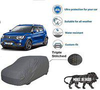 Starvin CAR Cover for IGNIS   Export Quality Fabric    Water Resistant and UV Protection    Triple Stitched    Front and Back Elastic    Dark Grey Color    with Carry Bag    Model V2XL