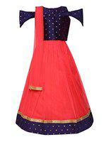 Aarika Girl's silk Lehenga Choli (LCH-1020_Gajri_10-11 Years)