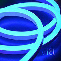 VRCT NEON Flexible Strip Light Frosted Rope String for Diwali Christmas Home Decoration (Blue, 10 Meter)