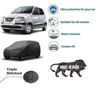 Varshine CAR Cover Sentro Xing || Export Quality Fabric || Water Resistant and UV Protection || Triple Stitched || Front and Back Elastic || Dark Grey Color || with Carry Bag || Model V2XL