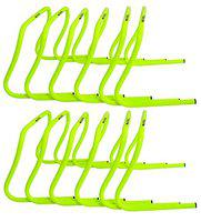 SAS SPORTS 12 Agility Sports Training Hurdle for Training Jumping Drills Soccer Football Gym Fitness (Set of 12) (with Carry Strap)
