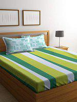 Portico New York Celebration Premium 144 TC Queen Bedcover with 2 Pillow Covers - Multicolour
