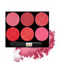 FIRSTZON cheekmaker 6 color soft pearls blusher