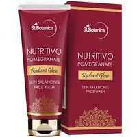 StBotanica Nutritivo Pomegranate Radiant Glow Skin Balancing Face Wash - Brightening, Nourishing, No Parabens, Sulphate, Silicones, 100 ml