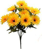 Hug Me Artificial Sunflower Bunch (Yellow, Size- 12 inches)