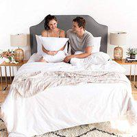 JVIN FAB Bamboo Bedsheet (White, 90x100 Inches)