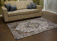 Home-The Best is For You Cotton Jacquard Carpet/Rug/Mat (Brown, 2x3 Feet)