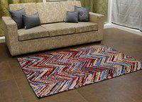 Home-The Best is For You Cotton Jacquard Carpet/Rug/Mat (Multi, 3x5 feet)