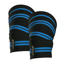 Joyfit Knee Wraps (Pair) with Elastic Knee Support - Heavy-Duty Knee Straps for Stability & Support for Squats, Powerlifting, Weightlifting, Crossfit & Gym Related Activities for Men & Women