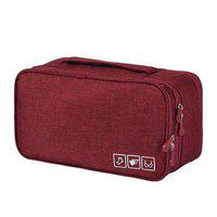 FORKLS Polyester Toiletry Bags (Red)