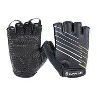 Burnlab Flex Gym Gloves for Men and Women - Ideal for Weightlifting, Cycling, Crossfit, Offers Good Grip and Soft Padding (Force Black, Small)
