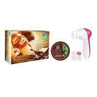 Astaberry Chocolate Facial Kit 5 Steps with Face MassagerFor Women | Combo Pack With Thyme Leap 100 ml Face Pack | Soothing & Glow Therapy