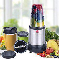 BMS Lifestyle Nutri-Blast Nutrient Extractors & Smoothie Blenders with User Guide and Recipe Book, 15-Piece/Stainless Steel
