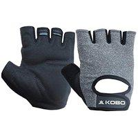 Kobo WTG-43-SMALL Weight Lifting Gym Gloves Hand Protector for Fitness Trainingsmall (Multi Colour)