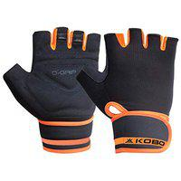 Kobo WTG-45 Weight Lifting Gym Gloves Hand Protector for Fitness Training (Multi Colour) with Wrist Support
