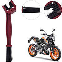 Yashinika Pack of 1 Universal Motorcycle Chain Care Cleaning Brush KTM All Bike Models - Red