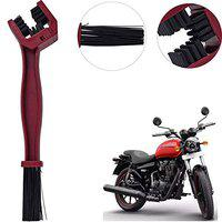 Yashinika Pack of 1 Universal Motorcycle Chain Care Cleaning Brush Royal Enfield All Bike Models - Red