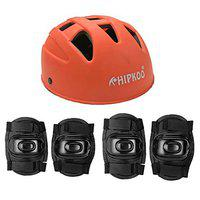 Hipkoo All Variants Protection Guards Skating and Cycling Protective Gear (Orange (Helmet Set 3))