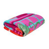 MUKHAKSH Polar Fleece Coloured Single Bed Soft Touch Light Weight Blanket (60 X 90 Inch, Multicolour, Print May Vary)