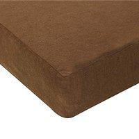 Story@Home Waterproof and Dustproof Terry Cotton Mattress Protector (75 X 36 Inches, Single Size, Brown)