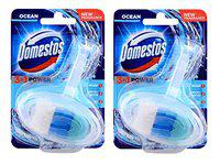 Domestos 3 in 1 Power Toilet Block Ocean Pack Of 2