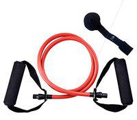 Burnlab Resistance Tubes for Home Gym Workouts (Red (10LB))