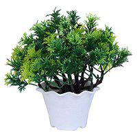 Pine Leaves Green Artificial Plants | Guldasta Flower Pots for Home Decoration | Plants for Home by Sehaz Artworks