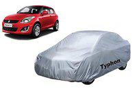Typhon Water and Heat Resistant Car Body Cover for Maruti Swift with Soft Fabric Lining (Silver, for 2012-2017)
