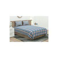 Portico York Marvella Warm & Cozy Queen Bedcover with 2 Pillow Covers - Multicolour