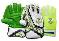 Plumcot Sporting Cricket Wicket Keeping Gloves with Inner Gloves, KG600,   Men Size  