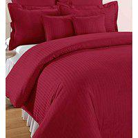 Home Solution's Pure Cotton Satin Stripe King Size Double Bed bedsheet 108x108 Size 1 bedsheet with 2 Pillow Cover