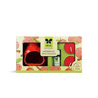 Iris New Apple Cinnamon Fragrance Ceramic Vapourizer with 5ml Oil and 2 Tealights