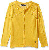 Allen Solly Girl's Cotton Jumper (AGSWCRGBL76179_Yellow_4)