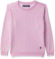 Allen Solly Girl's Cotton Jumper (AGSWCRGBD44576_Lilac_4)