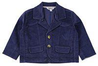 TOFFYHOUSE Full Sleeve Corduroy Blazer for Boys, Indigo, 3-6 Months