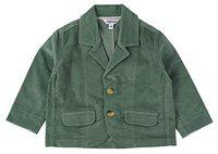 TOFFYHOUSE Full Sleeve Corduroy Blazer for Boys, Green, 3-6 Months