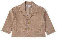 TOFFYHOUSE Full Sleeve Corduroy Blazer for Boys, Khaki, 3-6 Months