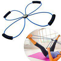 Strauss Double Loop Yoga Soft Chest Expander, (Blue)