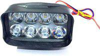 CAPE SHOPPERS Imported Universal 8 LED Fog Light Off/On Road Driving Work Lamp for Bike Cars and Motorcycle (8CM 8LED)