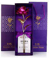 INTERNATIONAL GIFT Artificial Rose Flower And Luxury Gift Box (Pink, 1 Piece)