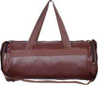 JMO27Deals Antique Leather Rite Gym Bag (Brown)