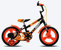 Gang XBEAT Kids Cycles Mag Wheel and Tubless Tyres (Black & Orange,14'')