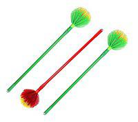 FPR Pack of 3 Heavy Duty Foldable Round Jaala Cobweb Cleaning Broom for Home, Office etc (1.5 Meter Length), Color May Vary)