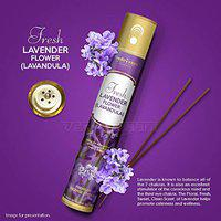 Vedic Vaani Natural Fresh Lavender-Lavandula Flower Rich Perfumed Fragrance Handmade Long Lasting Agarbatti Incense Sticks for Your Home, Pooja Room, Temple, Yoga Classes, Office Or Special Space