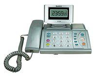 Sonics LCD Clock Phone HT-888 Silver Corded Landline Phone